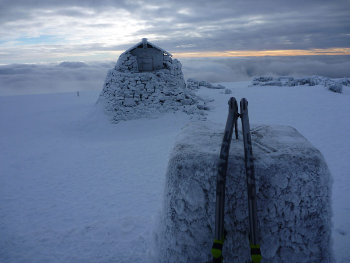 Reaching the highest point in Scotland on one of our Winter Climbing Courses