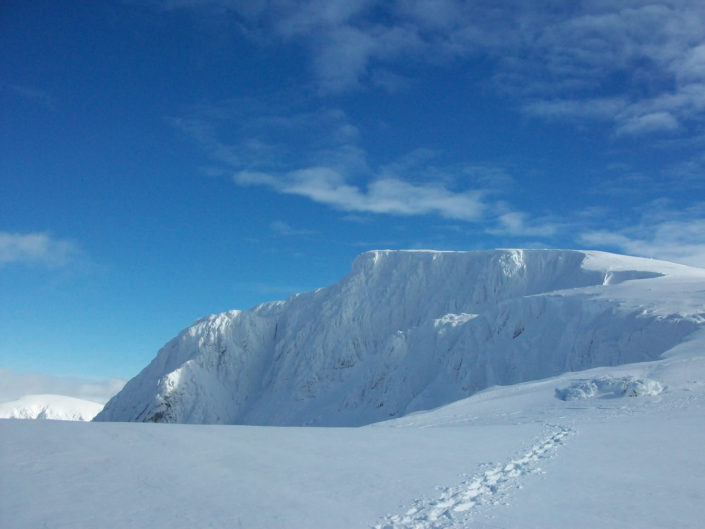 Fantastic conditions on Ben Nevis for our winter climbing courses