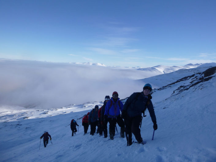 Winter Skills Course team on Aonach Mor