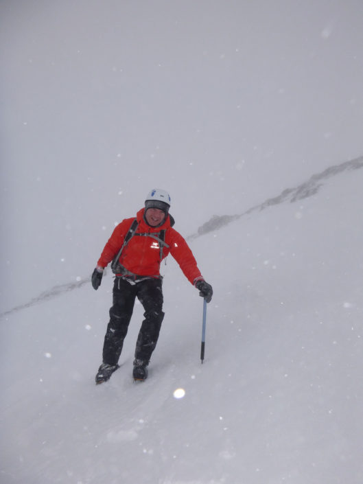 Learning to walk with crampons and an ice axe