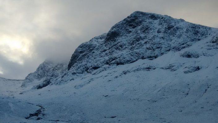Ben Nevis first thing this morning