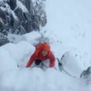 Guiding the SW Ridge of the Douglas Boulder, Ben Nevis