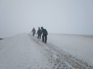 Descending off the Nid Ridge