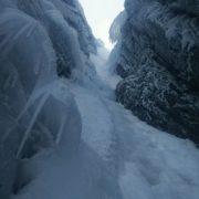 Good winter climbing in an icy No. 2 Gully, Ben Nevis