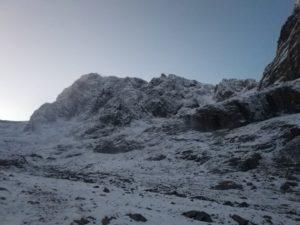 Winter conditions Ben Nevis