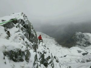 Dorsal Arete Winter Climbing Course