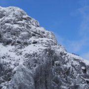 Blue skies above Tower Ridge on Ben Nevis