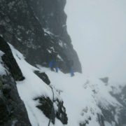 Eastern Traverse, Tower Ridge Winter Climbing