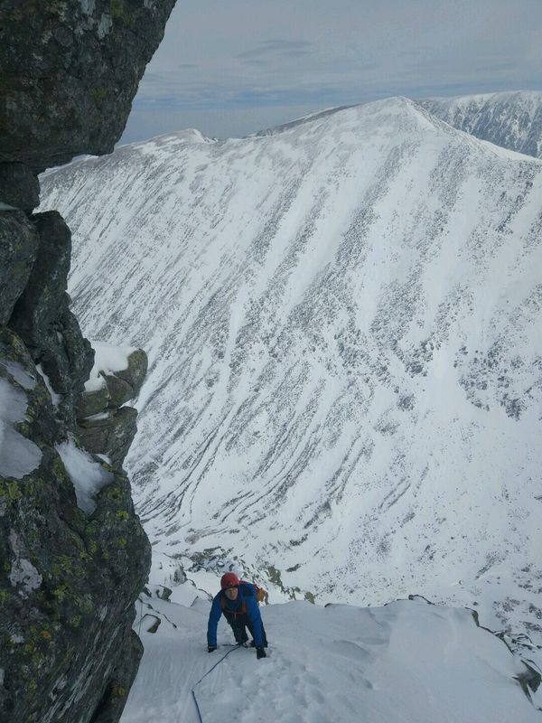 NE Buttress Ben Nevis Guided Winter Climbing