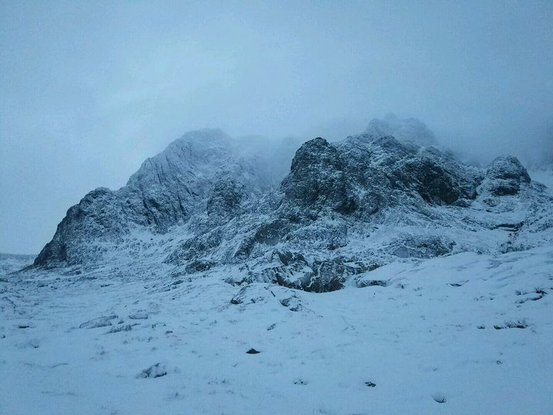 Heading up to Slab Rub Variation on Ben Nevis