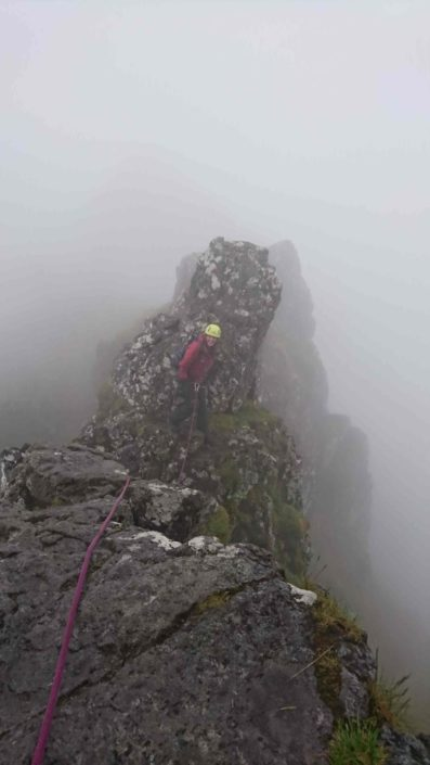 Guided ascent of the Aonach Eagach