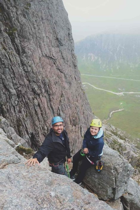 Another fine day on Curved Ridge in Glencoe