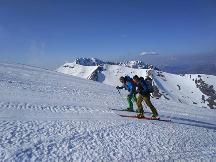 Skiing on the West Face of Aonach Mor