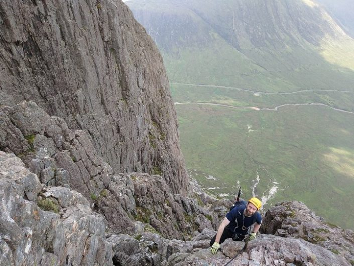 Intro to roped scrambling on Curved Ridge