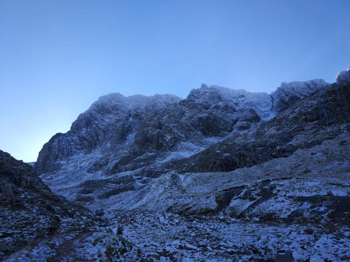 Early start to winter: Ledge Route, Ben Nevis