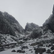 Excellent conditions in Tower Gully, Ben Nevis