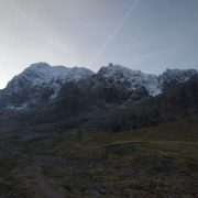 Good snow on Ledge Route, Ben Nevis