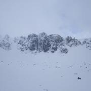 Cosmetic snow on Raeburn's Route, Stob Coire Nan Lochan