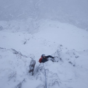 Nice start, wild finish to the day: North Buttress, Buachaille Etive Mor
