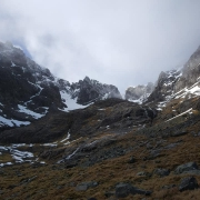 Sunshine & ice climbing - Central Gully R/H, Ben Nevis