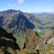 Clear and dry on the Aonach Eagach