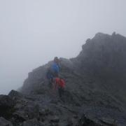 Windy and quite wet on Sgurr a'Ghreadaidh and Sgurr a'Mhadaidh