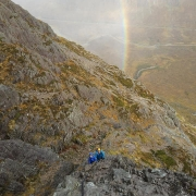 Curved Ridge, Buachaille Etive Mor, for father and son team