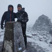 Snow on the summit of Ben Nevis!