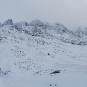 Plenty of snow on Western Rib, Aonach Mor