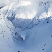 Ken was out in South Gully on Stob Ban today teaching, and wishing he had his sk