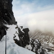 Thompson's, Tower Ridge and top pitch of Indicator Wall
