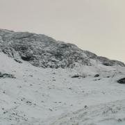 Nice ice on Salamander Gully, Beinn an Dothaidh