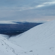 Wrapping up the week on Minus 3 Gully, Ben Nevis
